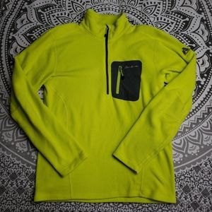 SOFT NEON YELLOW FLEECE UTILITY SMALL EDDIE BAUER